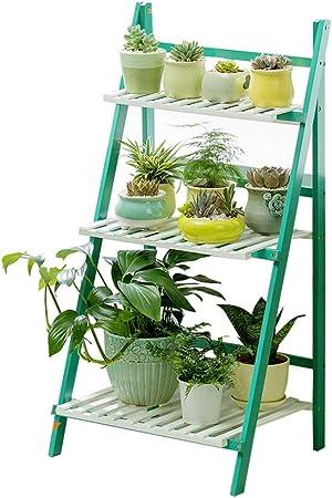 GYF Estanterias De Jardin Madera Soporte Plantas for Interior for Exterior 3 Niveles Escalera for Macetas De Plantas Y Flores (Size : 70cm): Amazon.es: Hogar