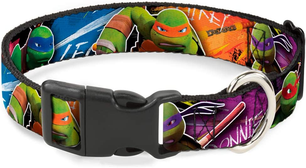 Teenage Mutant Ninja Turtles Cat Collar Breakaway TMNT New Series Character Action Pose Close Up Multi Color 8 to 12 Inches 0.5 Inch Wide