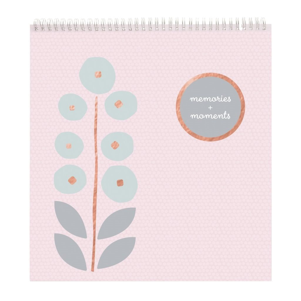 C.R. Gibson Pink Flowers Baby Girl First Year Keepsake Calendar and Stickers C.R. Gibson - Baby BSC-20624