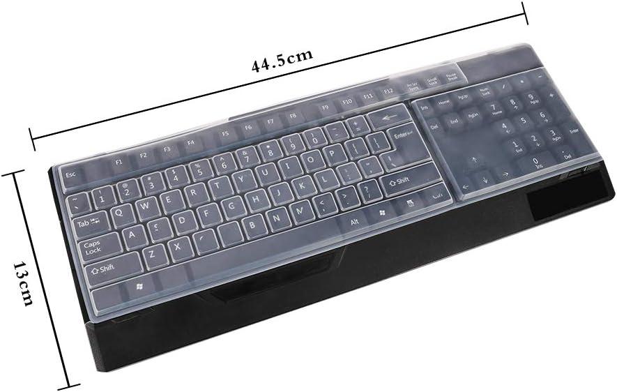 Veraing 2 protectores de teclado ultrafinos, impermeables, de silicona, para escritorio, teclado, protector de piel