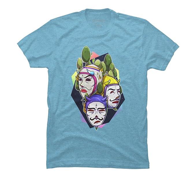 3419add1 UKUKUS Men's Medium Sky Blue Heather Graphic T Shirt - Design By Humans
