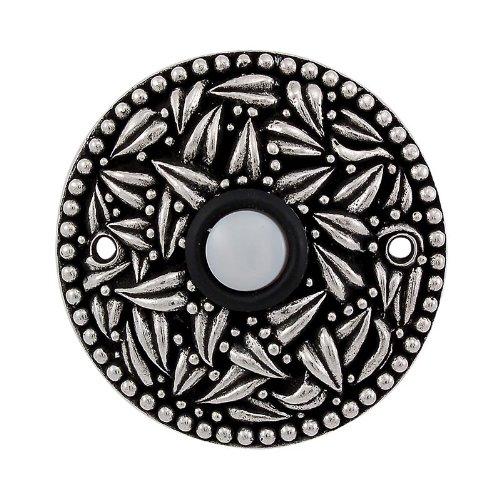 (Vicenza Designs D4013 San Michele Round Doorbell, Vintage Pewter)