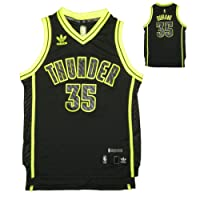 LIMITED EDITION: YOUTH NBA Oklahoma City Thunder Durant #35 Pro Quality Athletic Jersey Top with Embroidered Logo & Numbers
