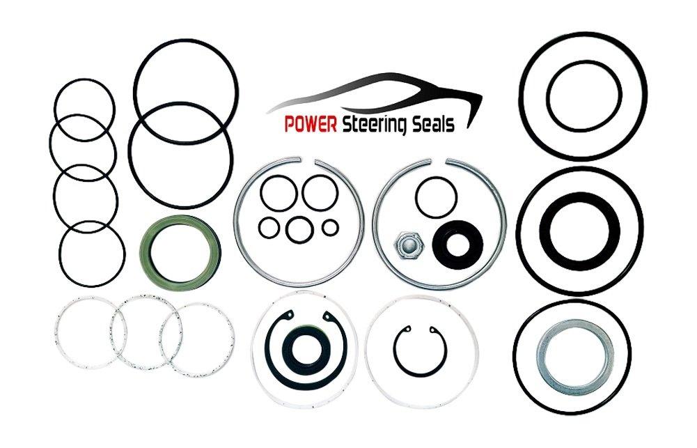 Power Steering Seals - Power Steering Gear Seal Kit for Saginaw 710 Dual Piston-Metric by Power Steering Seals