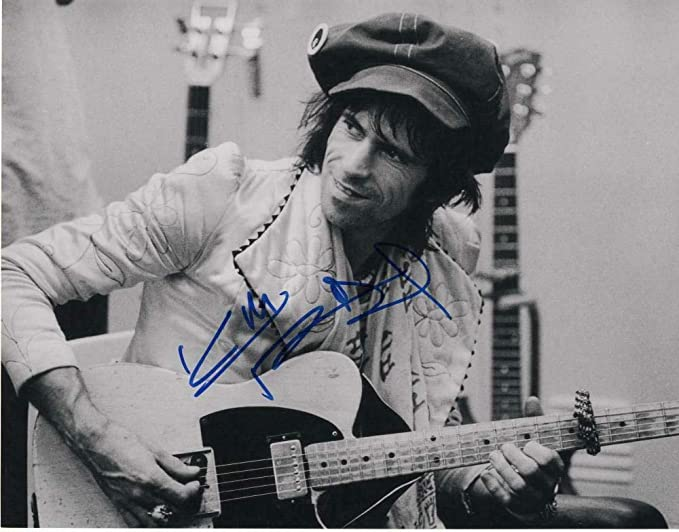 Keith Richards Signed Autographed 11x14 Photo The Rolling Stones Guitar Young 3 Guitars At Amazon S Entertainment Collectibles Store