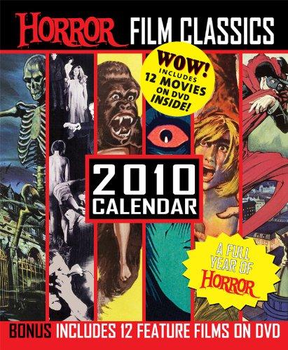 Horror Film Classics 2010 Calendar with 4 DVD's -