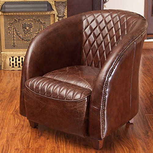 Savoy 100% Top Grain Leather Club Chair ()