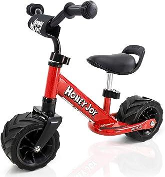 COSTWAY Bicicleta de Equilibrio Sin Pedal 66 x 55 x 38 cm Balance de Bicicleta para Niños Sillín Manillar Altura Ajustable con Pegatina de Anticolisión Carga 30KG para 1-3 Años: Amazon.es: Juguetes y juegos