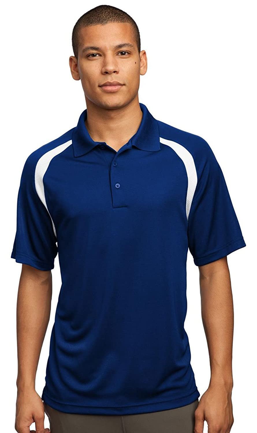 Sport-Tek Men's Performance Colorblock Polo Shirt_True Royal/White_L
