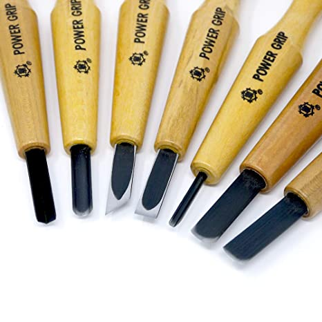 Power Grip Carving Chisels Sets Japan Parallel Import Five Piece Set by MIKISYO