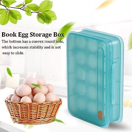 Ksruee Huevera Vertical para Refrigerador, Envase para Huevos ...