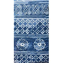 Nina Campbell Home Set of 16 Guest Towels Buffet Napkins, Vintage Indigo, Blue