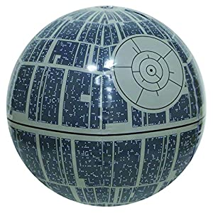 SwimWays Star Wars Death Star Light-up Beach Ball - 61zXBcIYtRL - 14″ Gray Star Wars Death Star Large Light Up Inflatable Beach Ball Swimming Pool Toy