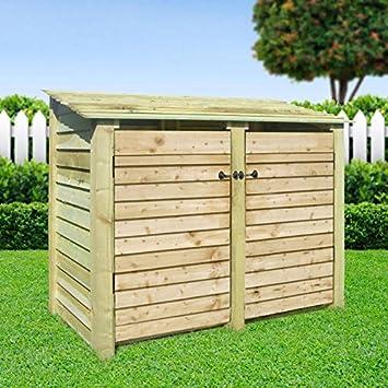 Rutland County Garden Furniture - Cabaña de madera con puertas ...