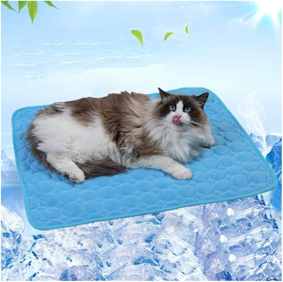 N / A Dog Cooling Mat, Pet Cooling Pads for Dogs, Self Cooling Mat Keeps Dogs and Cats Cool -Pressure Activated, No Electricity or Water Needed, Washable