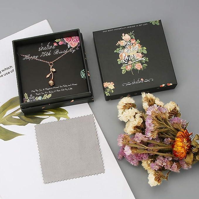 Amazon.com: Regalo de 75 cumpleaños para mujer – Collar de ...