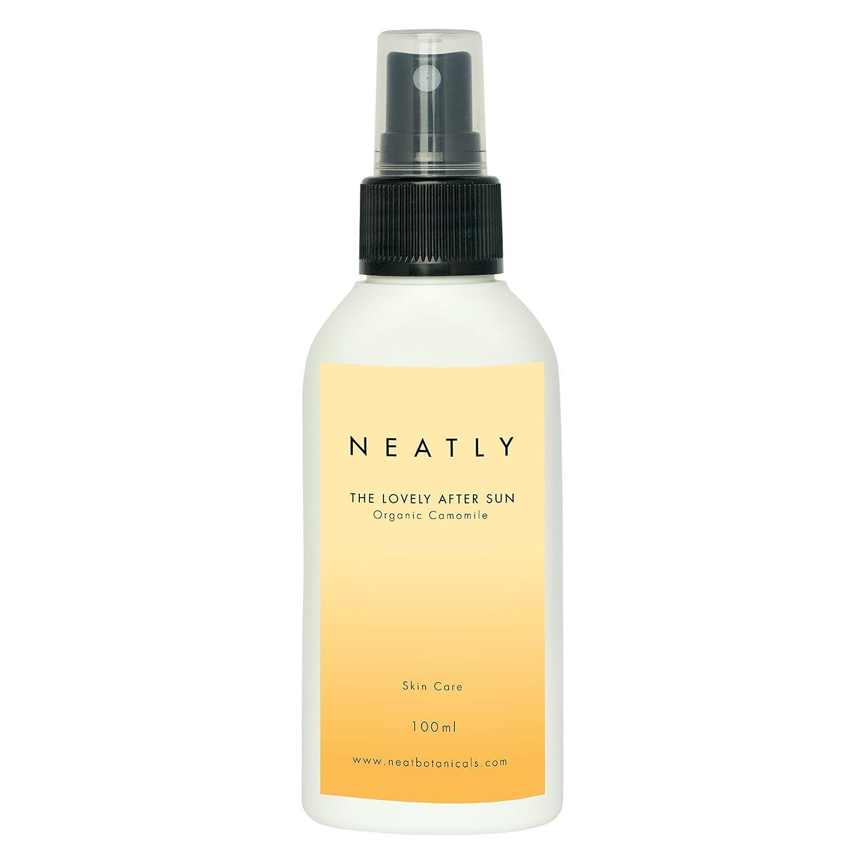 Spray apres soleil BIO de Neatly | 100ml spray avec aloe vera bio & extrait de camomille | alternative au gel aloe vera ou eau oxygénée Vivere GmbH
