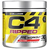 Cellucor C4 Ripped Pre Workout Powder, Thermogenic Metabolism Booster for Men & Women with Green Coffee Bean Extract, Fruit Punch, 30 Servings