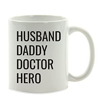 andaz press 11oz fathers day coffee mug gift husband daddy doctor