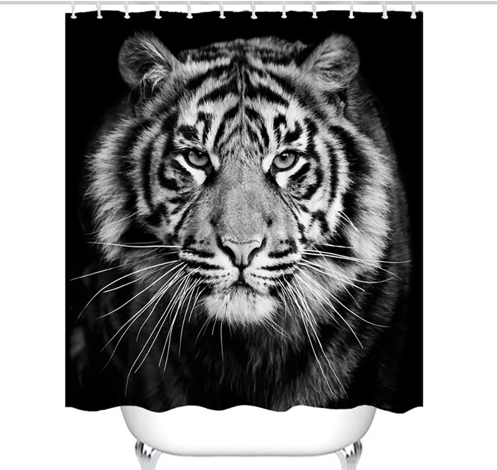 Waterproof Fabric Shower Curtain Liner White Tiger Blue Eyes Bath Accessory Sets