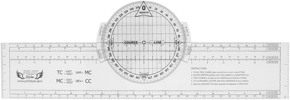 Rotación Plotter de plástico para marcar delle forniture de navegación Fai Da Te 33,5 x 6 cm: Amazon.es: Oficina y papelería