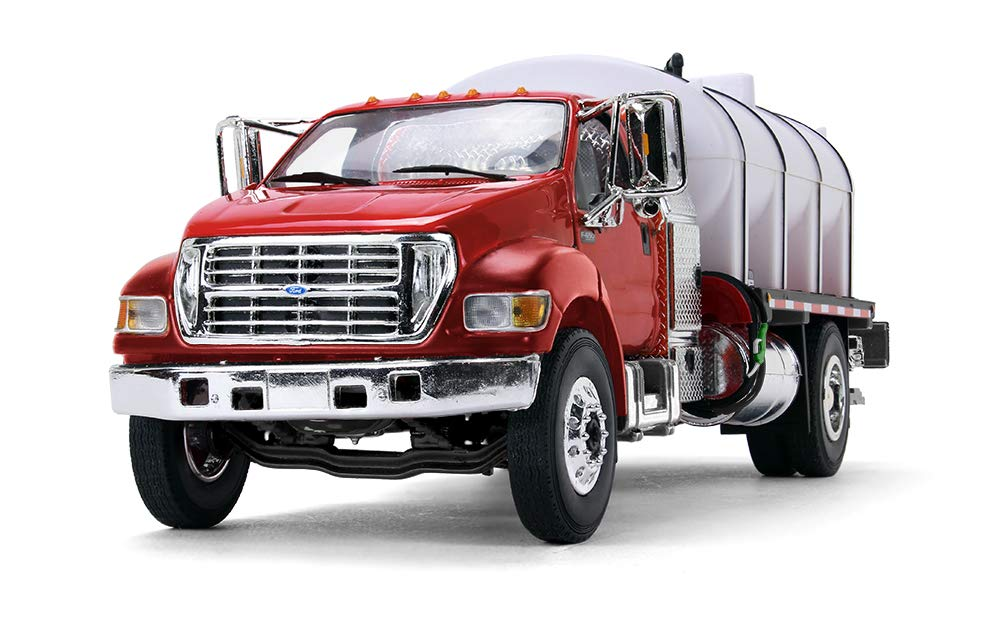 #10-4152 Inc. First Gear 1//34 Scale Diecast Collectible Red//White Ford F650 with Roto Molded Water Truck