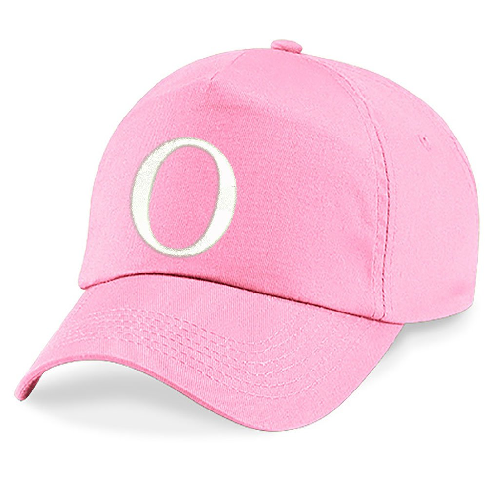 4sold Childrens Embroidery Cotton Summer Sun Hat Children School Kids Caps Hat Sport Alphabet A-Z Boy Girl Adjustable Baseball Cap Pink