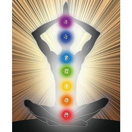 Amazon Pb Yoga Position With The Symbols Of Seven Chakras