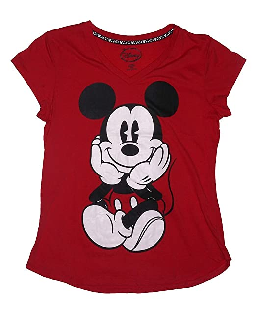 65200716d1d78a Image Unavailable. Image not available for. Color  Disney Mickey Mouse  SITTING Junior Pajama T ...