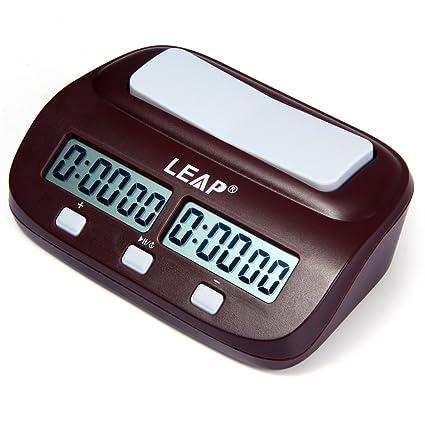 Profesional pq9907s Digital Reloj de ajedrez I-go Count Up Down Temporizador