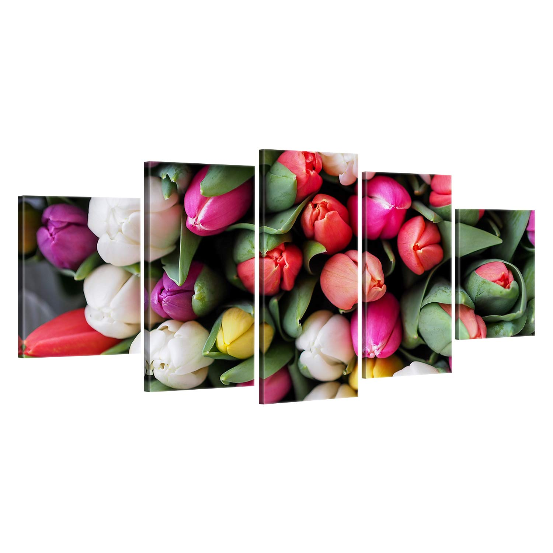 SENSATIONSPREIS hochwertiges Leinwandbild ge Bildet !! Tulpen 30 x 20 cm einteilig 2268-B
