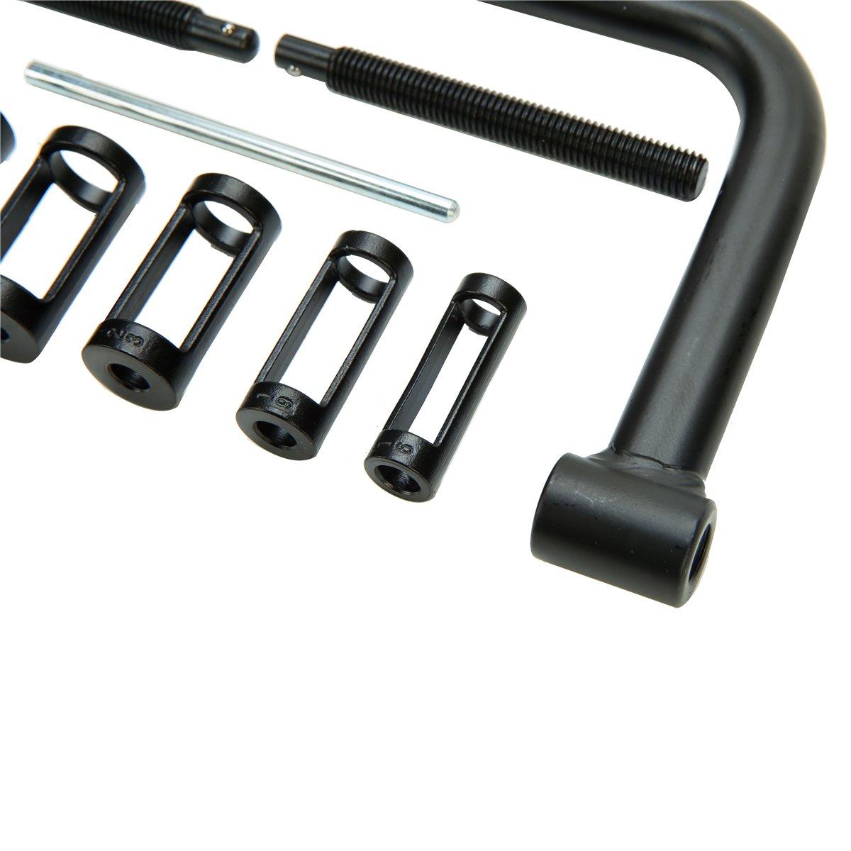 8milelake AUTO Solid Valve Spring Compressor Automotive Tool Set Repair Tool Kit by 8MILELAE (Image #4)