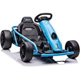 Fit Choice Electric Ride On Go Kart for Kids Ages 6-12, Up to 154 lbs, 24V 4-Wheel Electric Go Cart, 5-9 MPH Speed W/Drift Fu