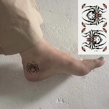 Oottati 2 Hojas Pequeño Lindo Tatuaje Temporal Tattoo Araña De ...