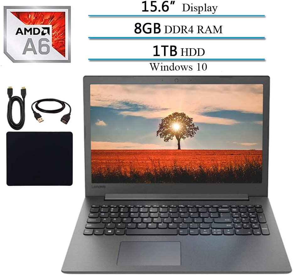 Lenovo Ideapad Premium 15.6 Inch Laptop 2019 Notebook Computer, AMD A6-9225 2.6GHz, 8GB DDR4 RAM, 1TB HDD, DVD-RW, Wi-Fi, Bluetooth, Webcam, USB 3.0, HDMI, Windows 10 W/ 29.9 Accessories Bundle