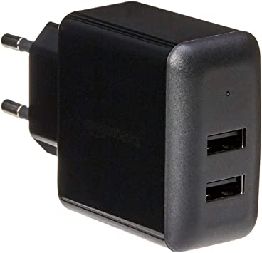 AmazonBasics – Cargador USB de pared de dos puertos (2,4 amperios ...