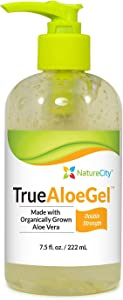 Double Strength Aloe Vera Topical Gel - Soothes and Hydrates Irritated Skin - 7.5 oz. Bottle (Single Bottle)
