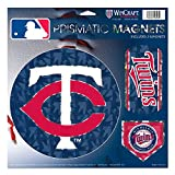 "Minnesota Twins MLB Prismatic 3 Different Die Cut Magnets On Single 11"" x 11"" Sheet Magnet"
