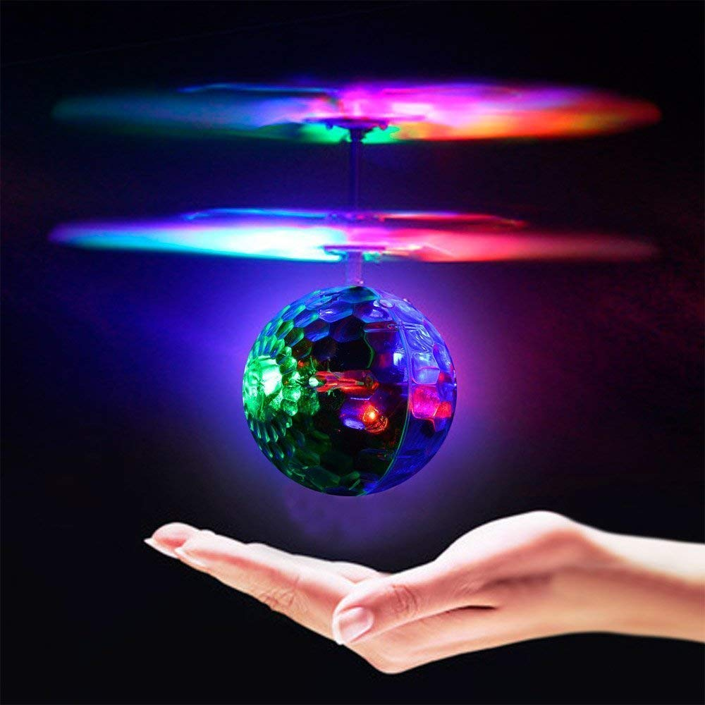 Geekercity Mini Flying RC Drone Helicopter Infrared Induction LED Remote Ball Mini Aircraft Toys for Kids Teenagers Children