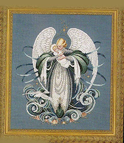 Lavender & Lace Counted Cross Stitch Chart Pattern ~ Angel of The SEA Angel Cross Stitch Chart