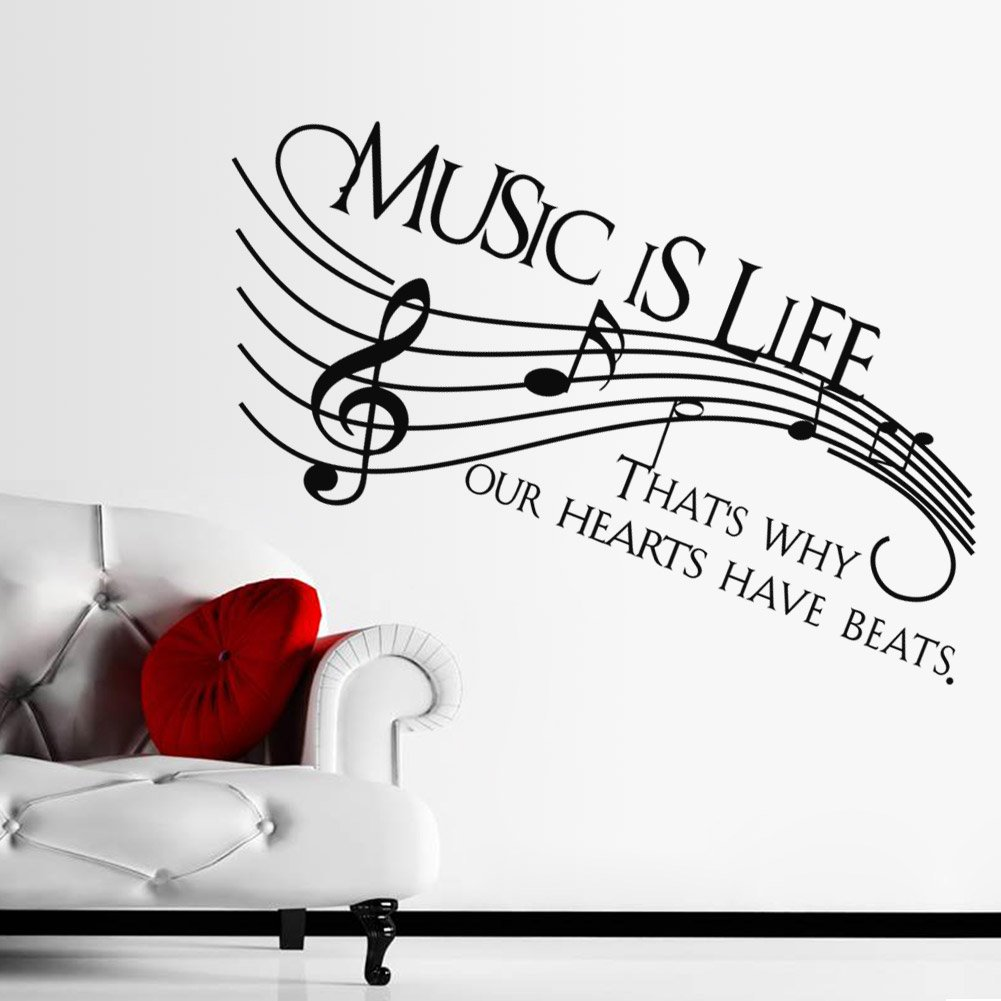Thatu0027s Why Our Hearts Have Beats   Vinyl Wall Decal Sticker Music , Musical  Wall Art Decoration: Amazon.ca: Home U0026 Kitchen