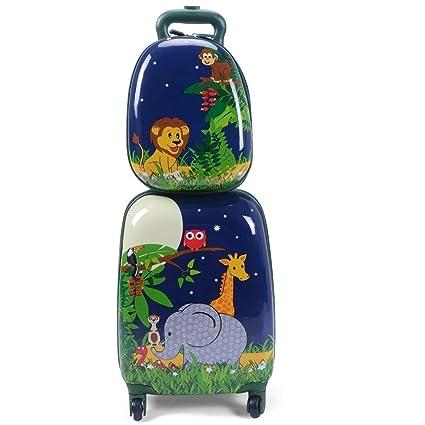 01db91f9aeab Amazon.com: C-Xka Kids Carry On Luggage Set Upright Hard Side Hard ...