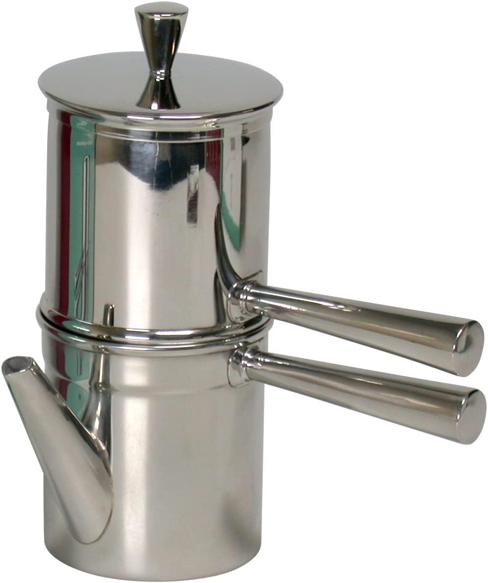 Ilsa Napoletana koffiezetapparaat, roestvrij staal, zilver, voor 6 kopjes