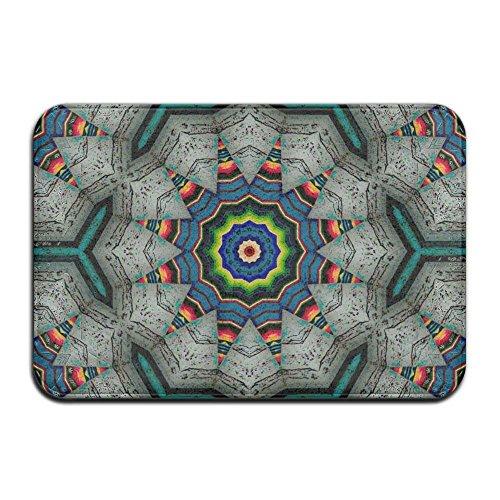 dan ding Home Door Mat Kaleidoscope Southwestern Colors Doormat Door Mats Entrance Rugs Anti Slip 4060 Indoor (Southwestern Suede)