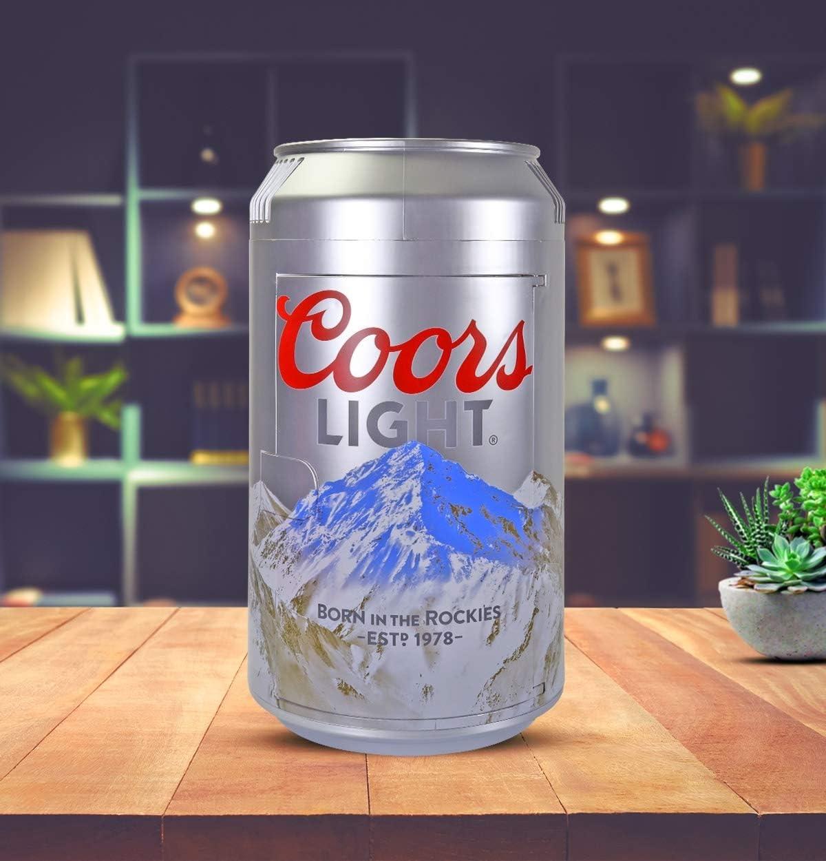 White Koolatron CL06 Coors Light Mini Can Fridge