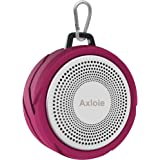 Bluetooth Speaker, Axloie BT2405 Portable Mini Indoor/Outdoor Speaker with HD Sound, 5 Hour Playtime, Waterproof Speaker for Car/Mobile Phone/Laptop/Computer with USB/Micro SD Card/AUX (Rose Red)