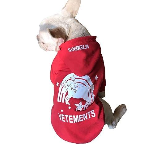 XL- Sudaderas con Capucha para Perros Fleece para Mascotas, Suéter Chaqueta de algodón Sudadera