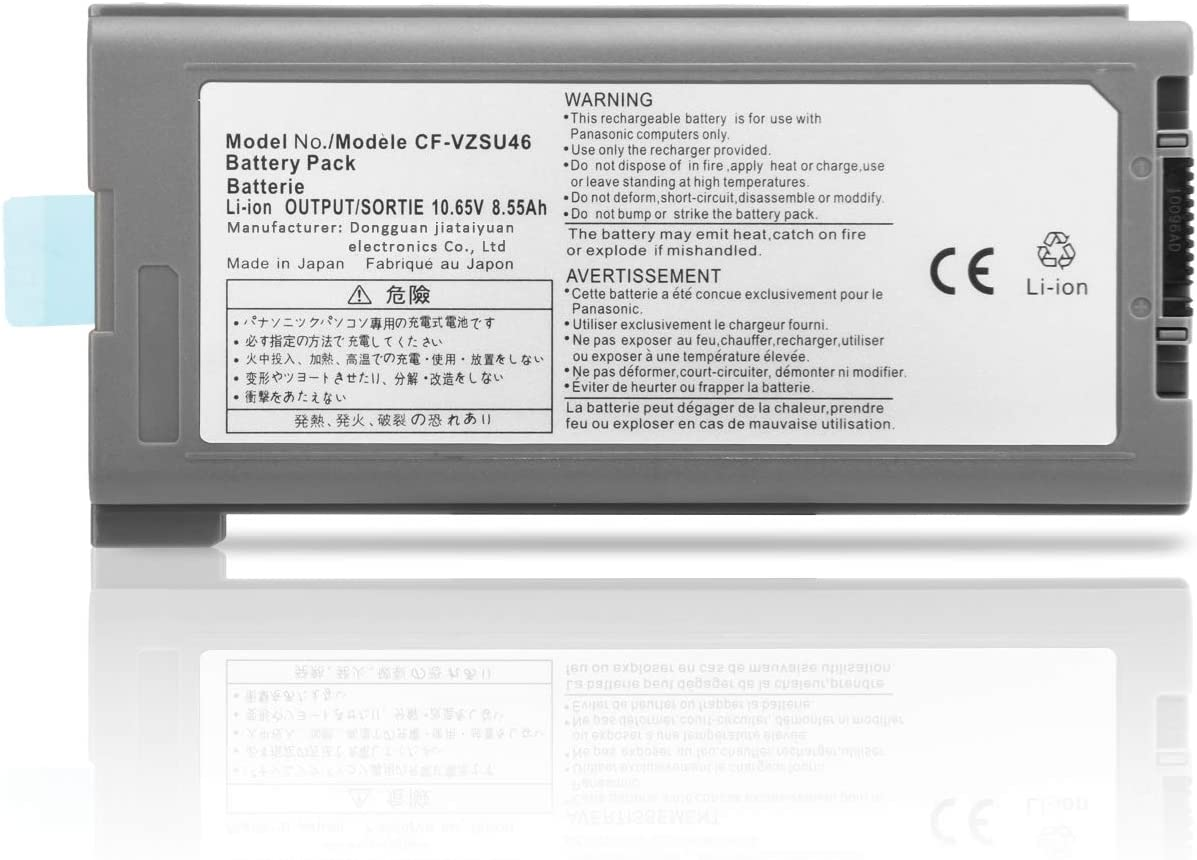 New CF-VZSU46 Battery Replacement for Panasonic Toughbook Cf-30 Cf-31 Cf-53 MK1 MK2 MK3 MK4 Laptop Cf-vzsu46au Cf-vzsu71u Cf-vzsu72u Cf-vzsu1430u CF-VZSU46s CF-VZSU46U 10.65V 9CELL