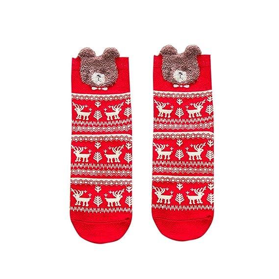 Kinlene Cómodas zapatillas de algodón de Navidad Zapatillas calcetines cortos tobillo: Amazon.es: Ropa y accesorios