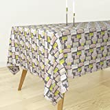 Roostery Tablecloth - New York Brownstones Home Architecture Fire Escape Sex And The City Illustration by Littlesmilemakers - Cotton Sateen Tablecloth 70 x 90